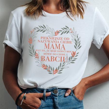 T-shirt lady slim DTG Nazywania Ciebie Mamą