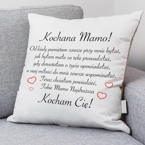 Poduszka druk Kochana Mamo...