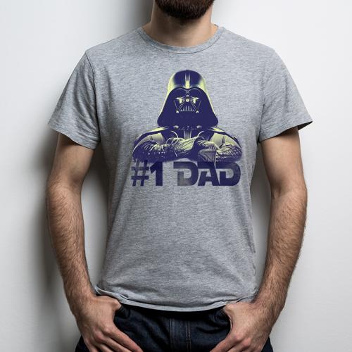 T-shirt oversize szara Dad...