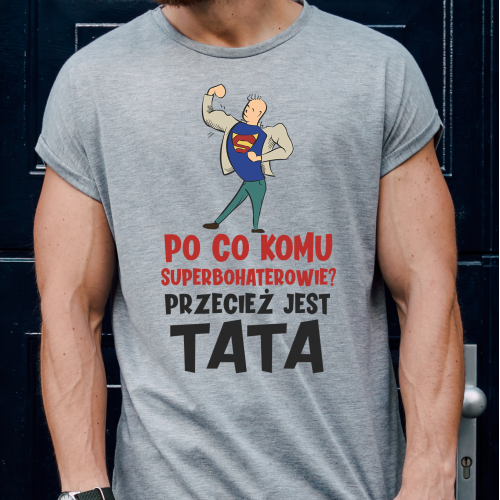 T-shirt oversize szara...