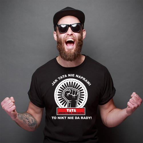 T-shirt czarny Tata...
