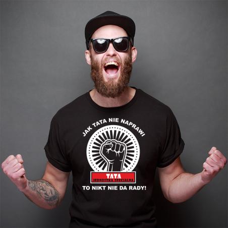 T-shirt czarny Tata jednostka Specjalna 2