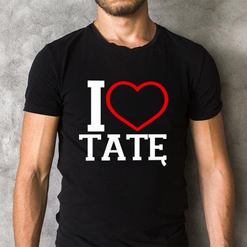 T-shirt czarny I Love Tatę
