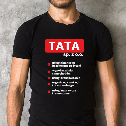 T-shirt czarny Tata Sp