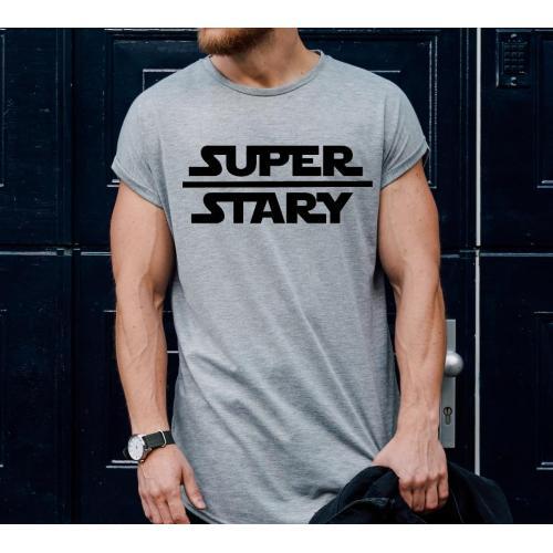 T-shirt oversize Najlepszy tata to ten z brodą