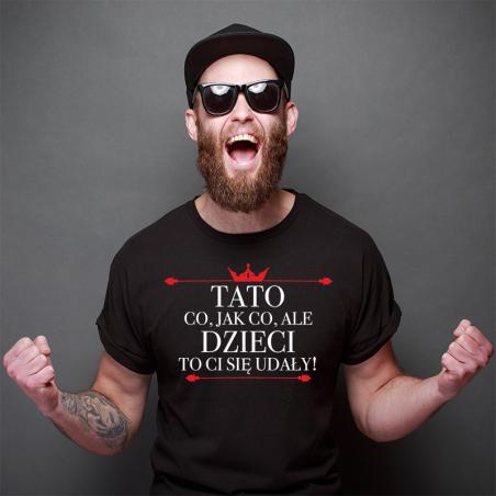 T-shirt czarny Tato Dzieci ci się udały 3