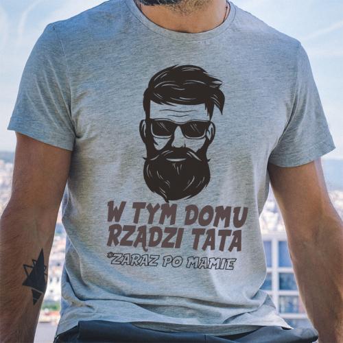 T-shirt oversize szara W...
