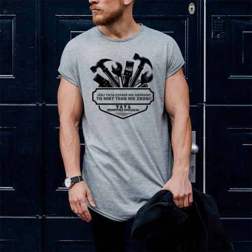 T-shirt oversize szary Tata...