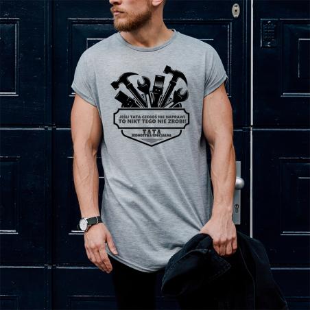 T-shirt oversize szary Tata Jednostka 3
