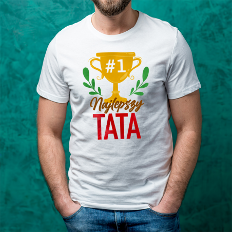 T-shirt oversize Najlepszy Tata Puchar