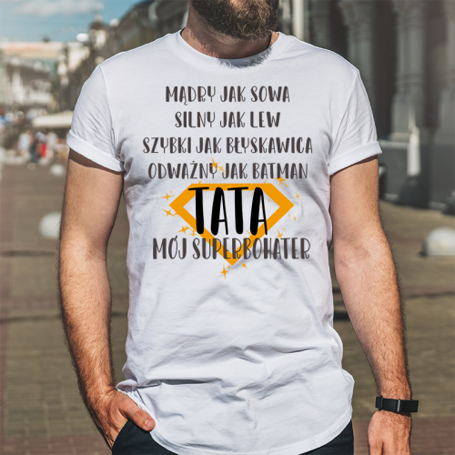 T-shirt oversize Tata Mój...