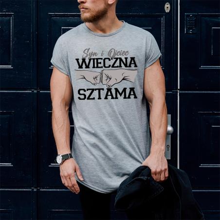 T-shirt oversize szara Wieczna Sztama Syn i Ojciec 2
