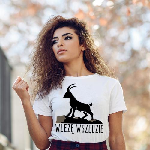 T-shirt lady slim DTG Wlezę...