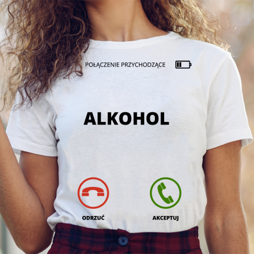 T-shirt lady slim DTG Alkohol