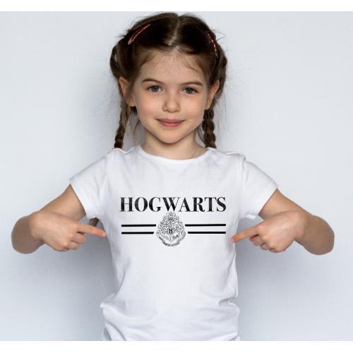 T-shirt kids Hogwarts black