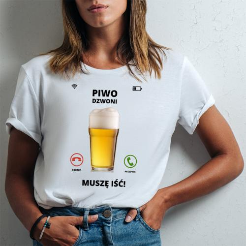 T-shirt lady slim DTG Piwo...