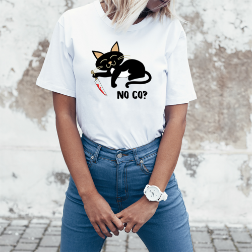 T-shirt lady slim DTG No co?