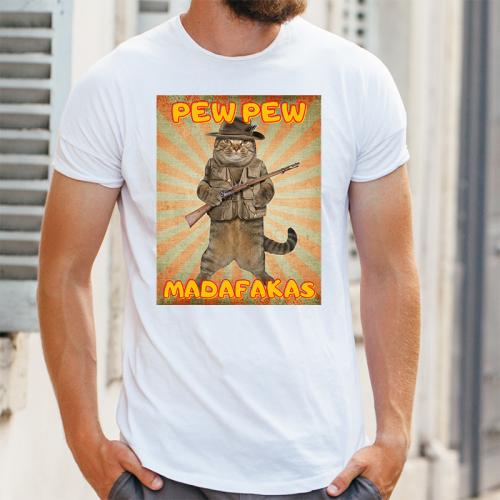T-shirt oversize DTG Pew Pew