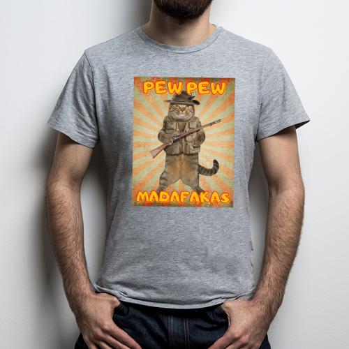 T-shirt oversize szary Pew!...
