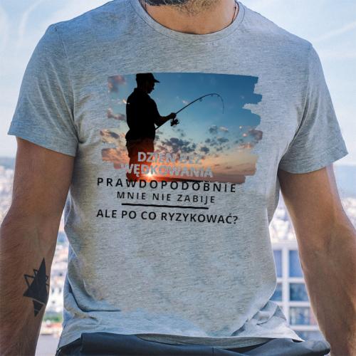 T-shirt oversize szary...