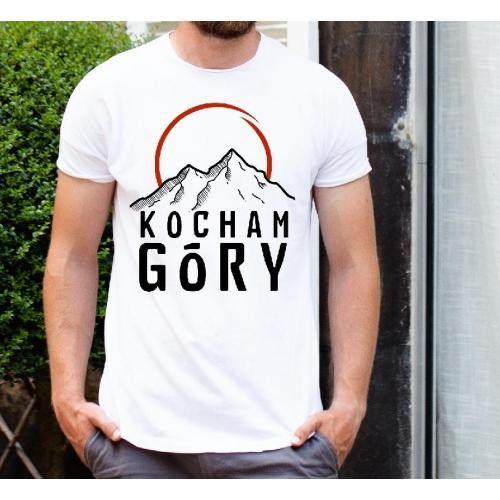 T-shirt oversize DTG chodzę po górach