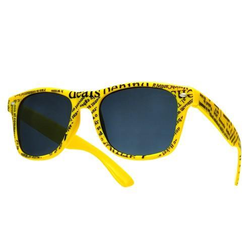 okulary wayfarer przeciwsłoneczne /gazeta żółte/