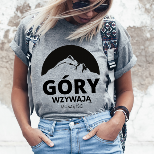 T-shirt Lady Szary | Góry...