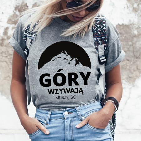 T-shirt Lady Szary | Góry Wzywają muszę iść