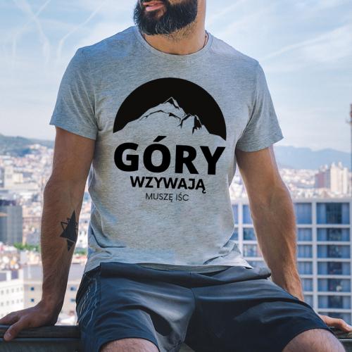 T-shirt Oversize Szary |...
