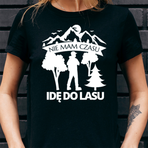 T-shirt Lady Czarny   Nie...