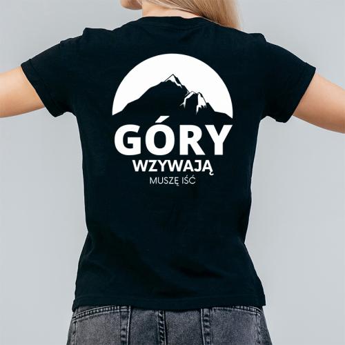 T-shirt Lady Czarny   Góry...