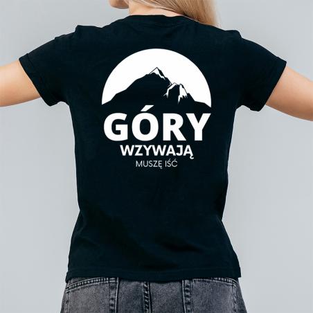 T-shirt Lady Czarny   Góry wzywają, muszę iść - Tył