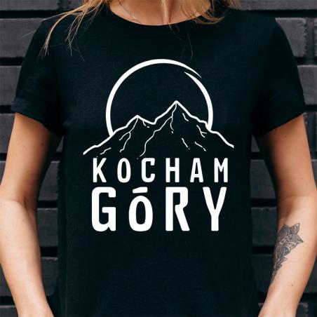 T-shirt Lady Czarny   Kocham Góry! - Przód