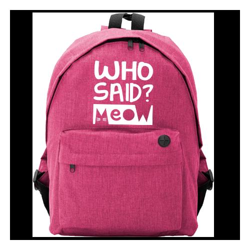 Plecak Owal | Who Said? Meow