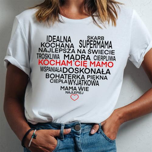 T-shirt lady slim DTG Mama...
