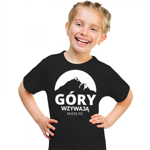 T-shirt Kids Czarny | Góry...