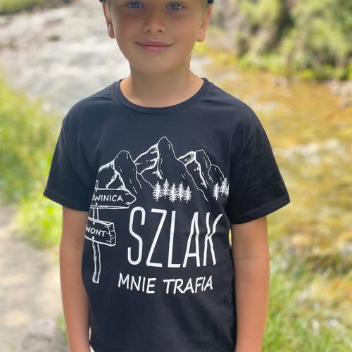 T-shirt Kids Czarny   Szlak...