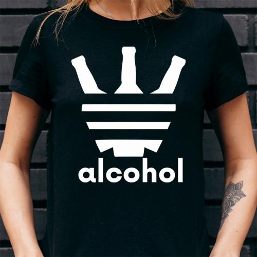T-shirt Lady Czarny | Alcohol