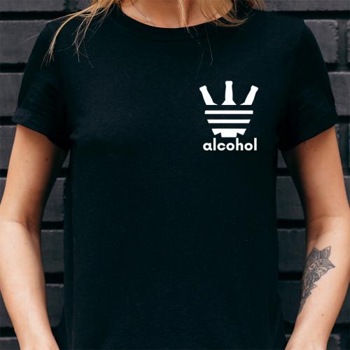 T-shirt Lady Czarny |...