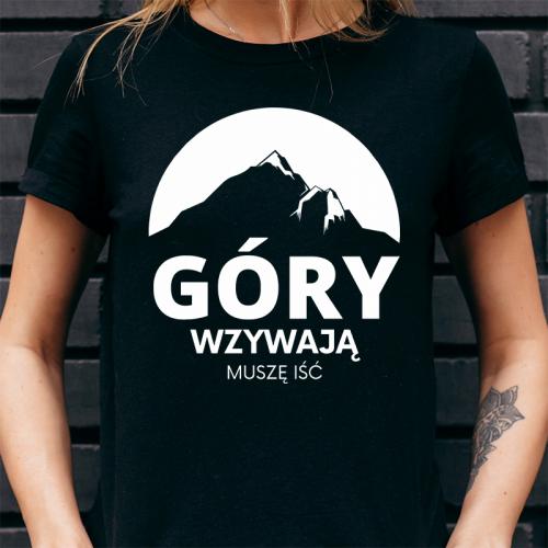 T-shirt Lady Czarny | Góry...