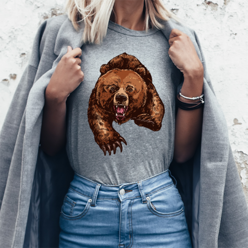 T-shirt Lady Szary |...