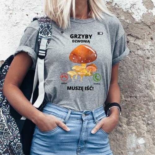 T-shirt Lady Szary | Grzyby...