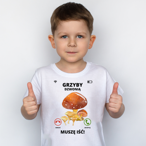 T-shirt Kids DTG   Grzyby...