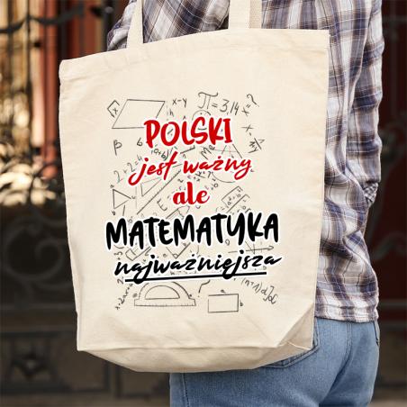 Torba bawełniana ecri Polski jest ważny ale matematyka najważniejsza