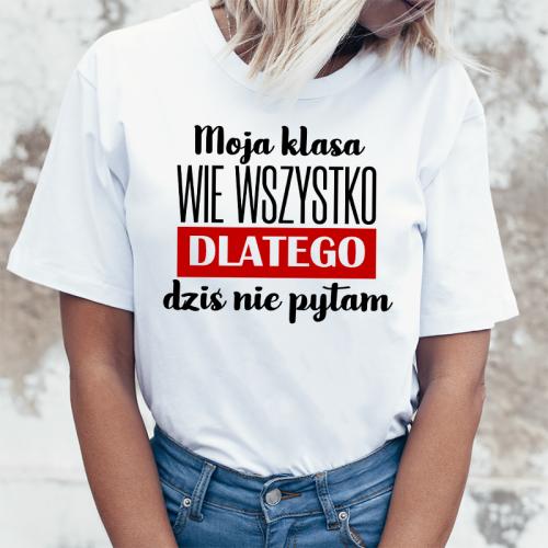 T-shirt lady DTG Moja klasa...