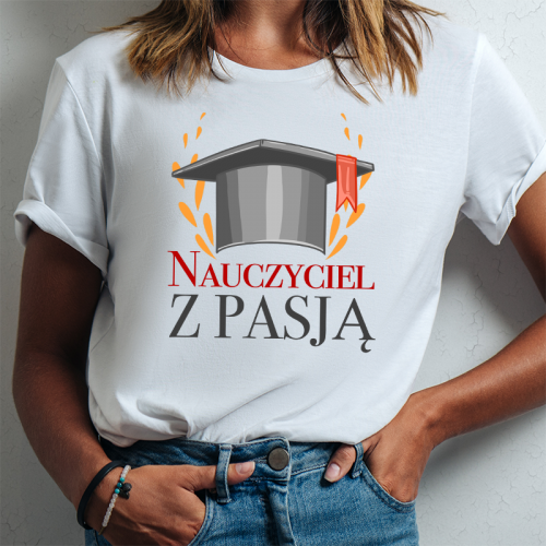 T-shirt lady DTG Nauczyciel...