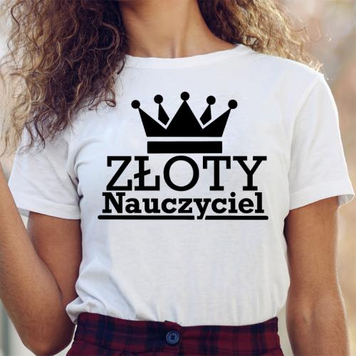 T-shirt lady Złoty...