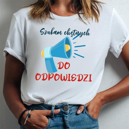 T-shirt lady DTG Szukam...