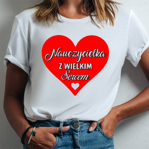 T-shirt lady DTG NAUCZYCIELKA