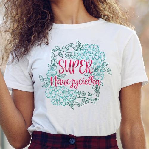 T-shirt lady DTG Super...